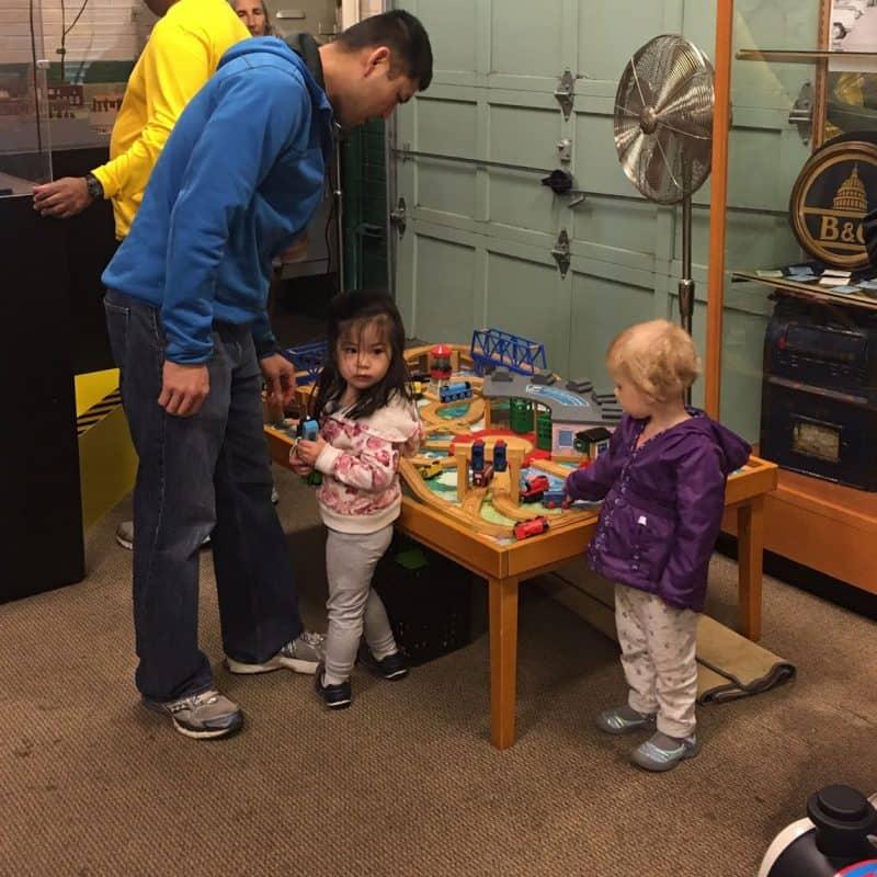 Kids at the B&O station